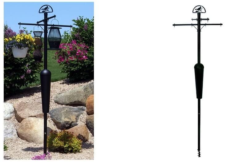 bird feeder poles that is squirrel proof