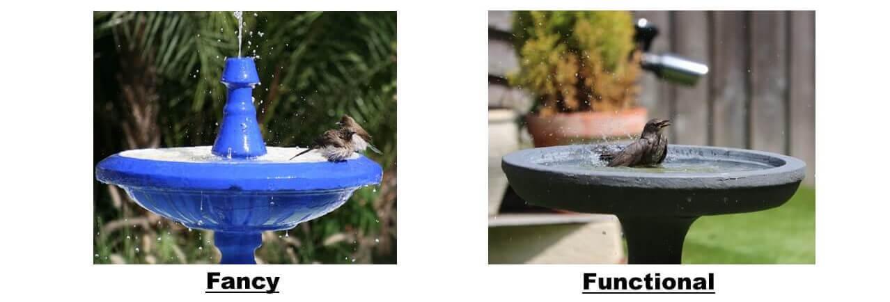 bird bath examples