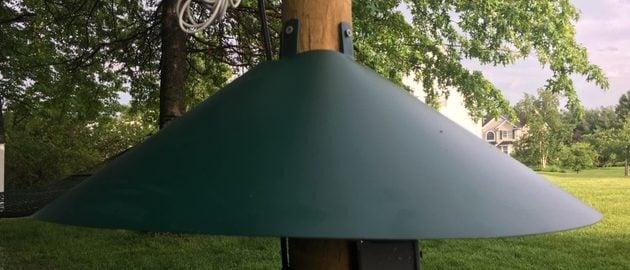 baffle option for larger cylinder poles